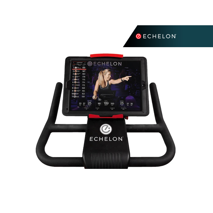Echelon Bike Console showing the Echelon App