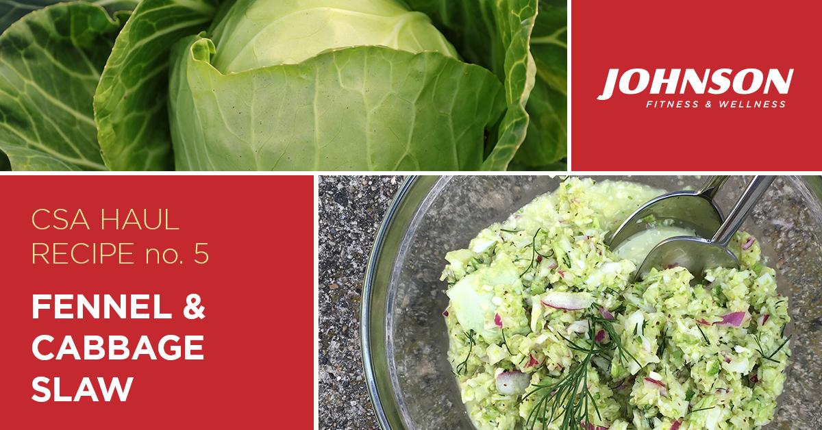 Fennel and Cabbage Slaw CSA Haul Recipe