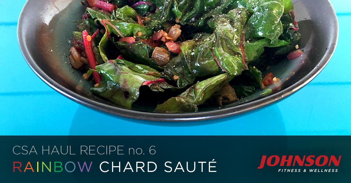 CSA HAUL recipe of the week rainbow swiss chard